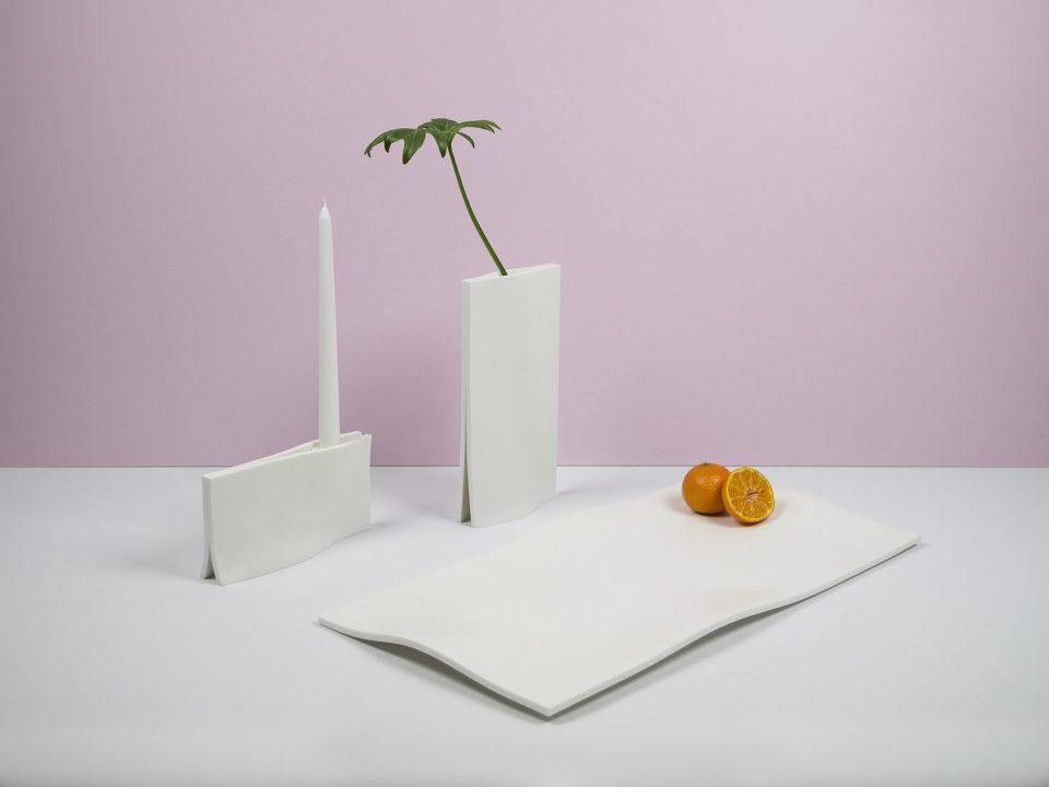 Lucid Table Objects - vaso, porta candele, vassoio - 2017